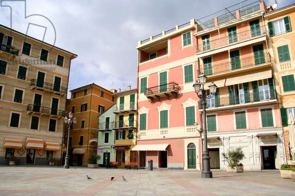Square, Varazze, Ligury, Italy