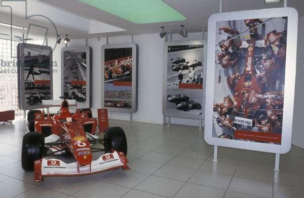 Ferrari F2003, Galleria Ferrari museum, Maranello, Emilia Romagna, Italy