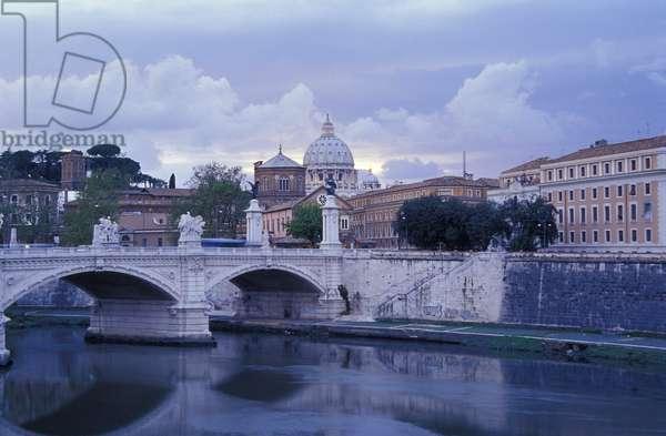 San Pietro with a foreshortening of Via della Conciliazione, Rome, Lazio, Italy