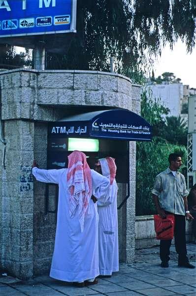 Cash dispenser, Amman, Jordan, Middle East