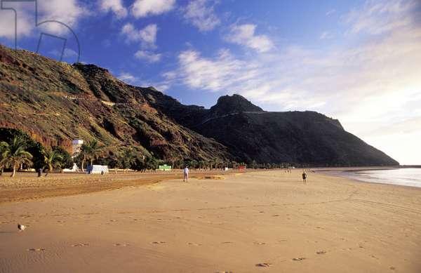 Beach, Playa de las Teresitas, Tenerife, Canary Islands, Spain, Atlantic, Europe