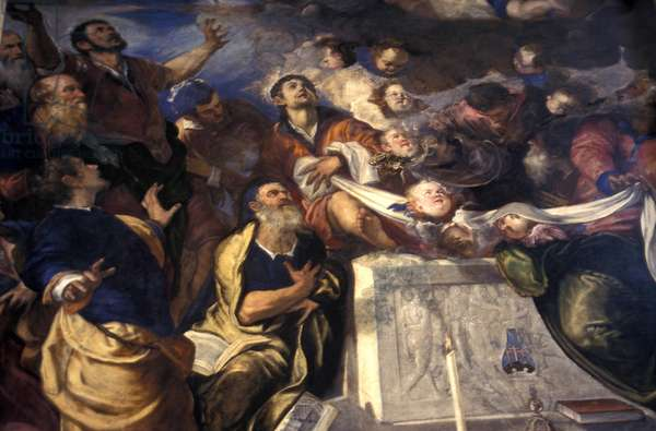 Tintoretto work of art, Jesuit Church, Venice, Veneto, Italy