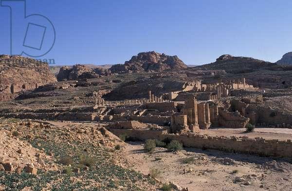Colonnade Street, Petra, Jordan, Middle East