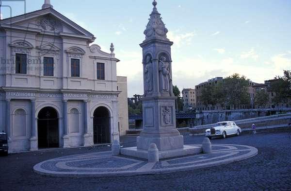 San Bartolomeo square, Rome, Lazio, Italy