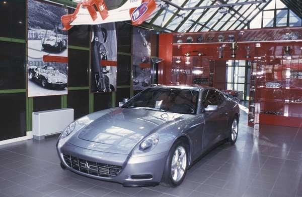 Ferrari 612 Scaglietti, Galleria Ferrari museum, Maranello, Emilia Romagna, Italy