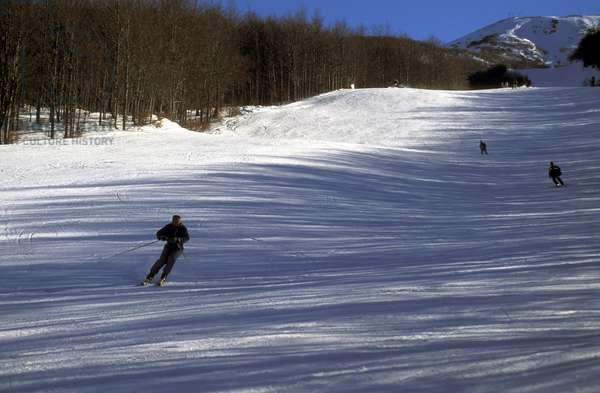Ski run, Riolunato, Emilia-Romagna, Italy