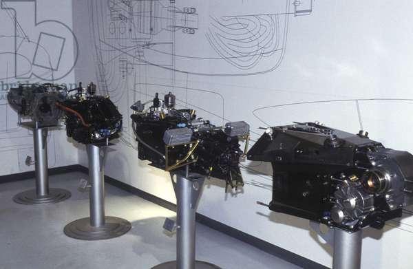 Ferrari F1 gearbox, Galleria Ferrari museum, Maranello, Emilia Romagna, Italy