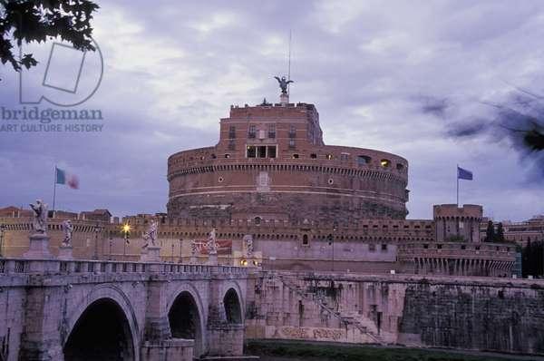 Castel Sant'Angelo and Ponte Sant 'Angelo, Rome, Lazio, Italy