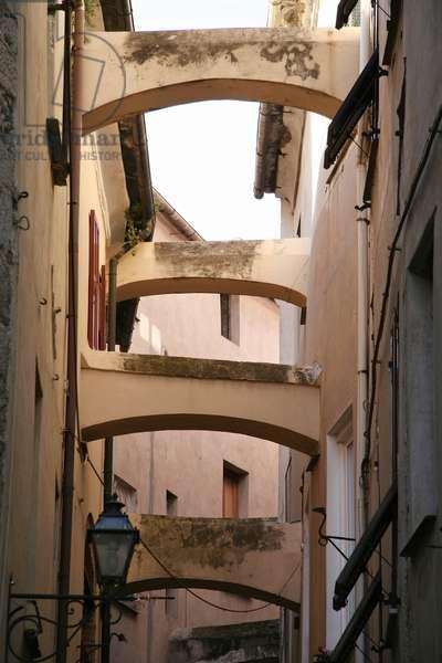 Lane, Old town centre, Toirano, Ligury, Italy