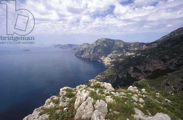 Lattari mountains, Amalfi coast, Campania, Italy.