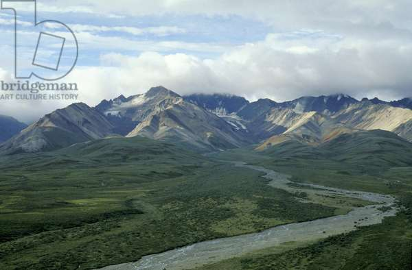 alaska range mountains, denali national park, usa