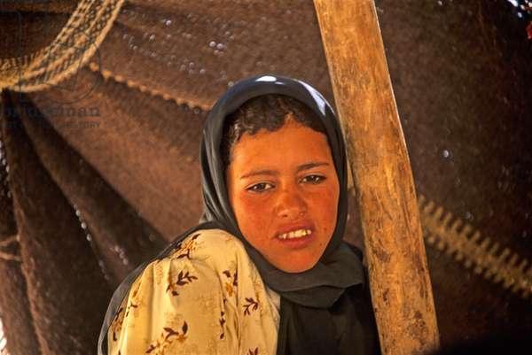 Berber girl, Siq Barid, Jordan, Middle East