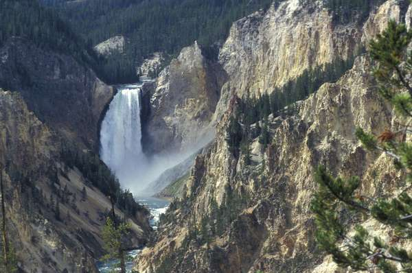 Grand Canyon, Lower Falls, Yellowstone National Park, United States of America