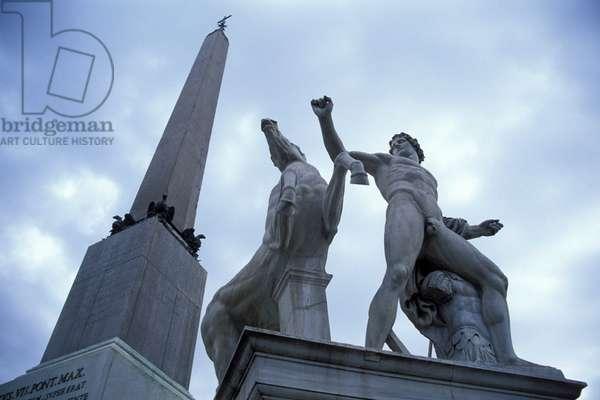 Statue, Piazza del Quirinale, Rome, Lazio, Italy