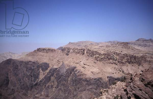Wadi Araba mountain, Petra, Jordan, Middle East