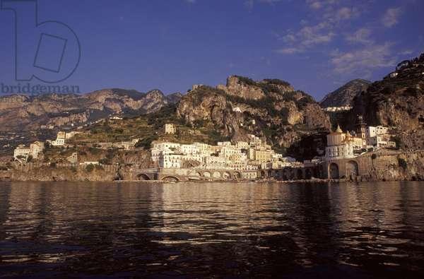 Seaside of Atrani, Amalfi coast, Campania, Italy.