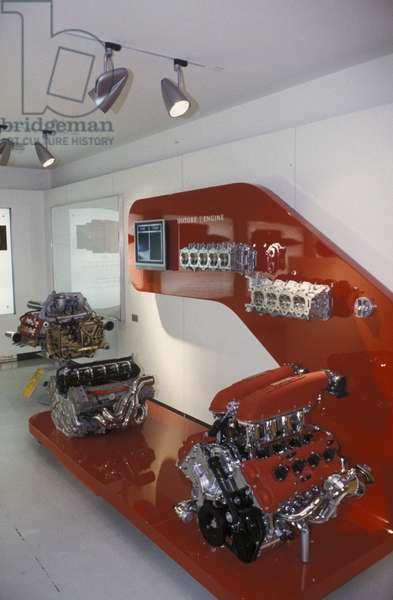 Ferrari motors, Galleria Ferrari museum, Maranello, Emilia Romagna, Italy