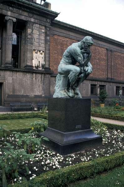 The Thinker statue by Rodin, Ny Carlsberg Glyptotek, Copenhagen, Denmark, Europe