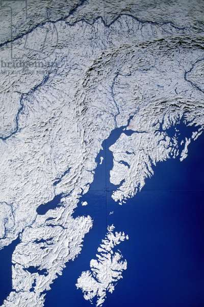 map of south alaska, anchorage, usa