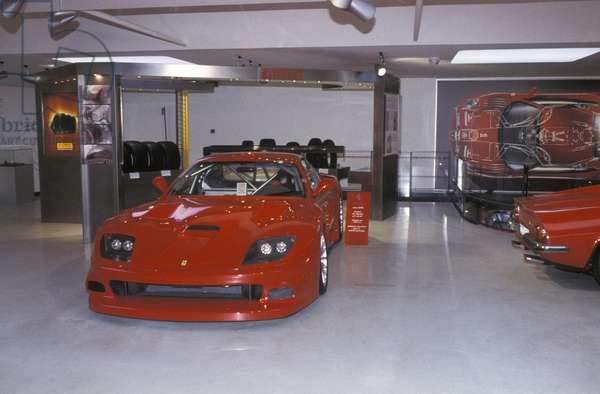 Ferrari 575 GTC, Galleria Ferrari museum, Maranello, Emilia Romagna, Italy