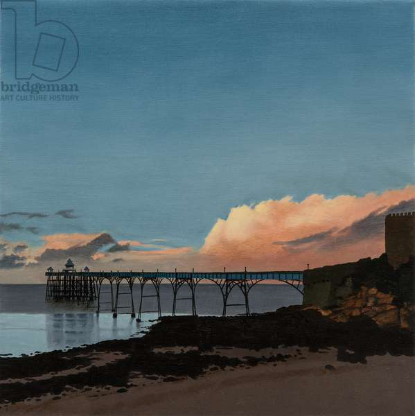 Clevedon Pier - Sunset, 2013 (oil on canvas)