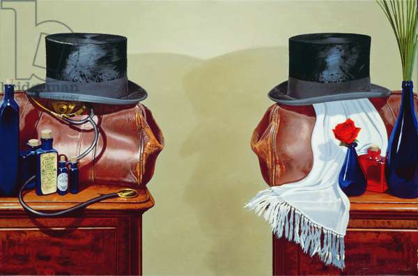 Jekyll and Hyde (oil on canvas)
