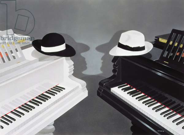 Facing the Music, 2002 (pastel on white paper)