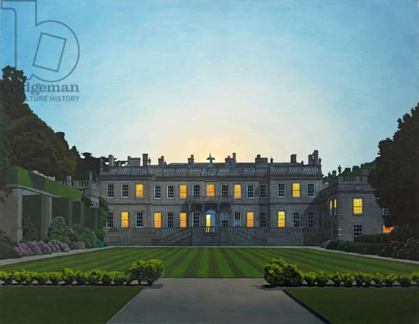 Evening Falls on Dyrham Park, 2011 (oil on canvas)