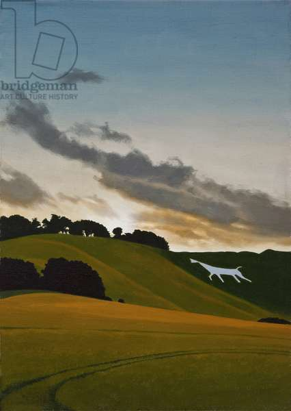 Cherhill Horse, 2011 (oil on canvas)