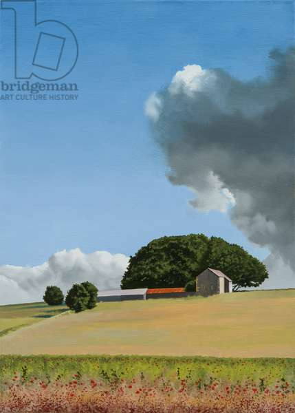 Littleton Wood Barn - Summer, 2014 (oil on canvas)