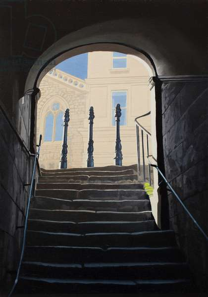 Walcot Steps (oil on canvas)