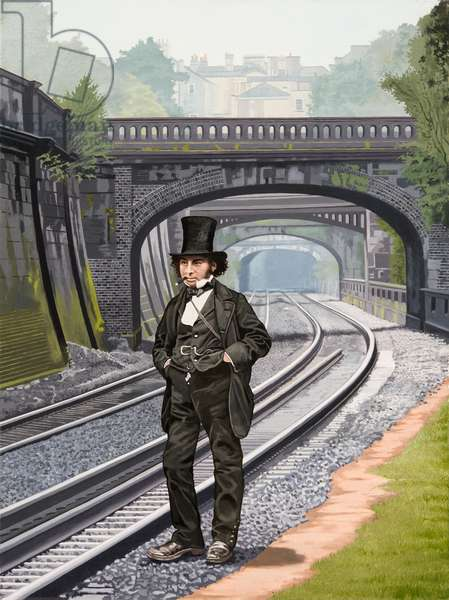 Brunel in Bath, 2013 (oil on canvas)