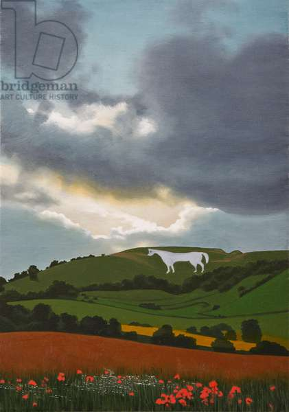 Westbury Horse, 2011 (oil on canvas)