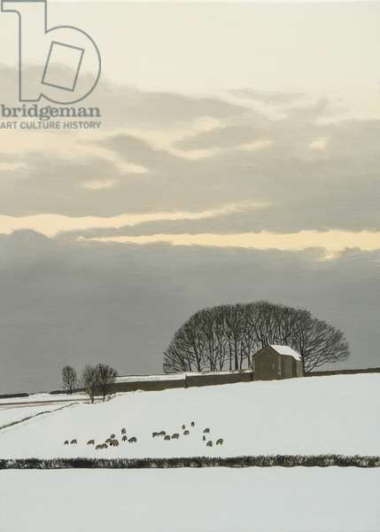 Littleton Wood Barn - Winter, 2014 (oil on canvas)