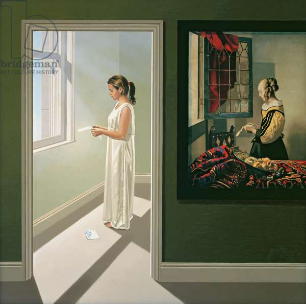 Reading Between the Lines I, 2005 (oil on canvas)