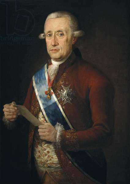 FOLC Y CARDONA, Francisco (1737-1792). The Count of Floridablanca. FLORIDABLANCA, Jose Monino, count of (1728-1808). English politician, minister for Charles III. Oil on canvas. SPAIN. MADRID (AUTONOMOUS COMMUNITY). Madrid. Banco de Espana (Bank of Spain) Collection