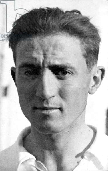 Bernabeu Yeste, Santiago (1895-1978). Footballer and President of Real Madrid. He is one of the most important men in Real Madrid's history. He has been the only president who has been in charge of the Real Madrid team for 35 years until his death. Portrait of the player Santiago Bernabeu in the 1920s. Photography