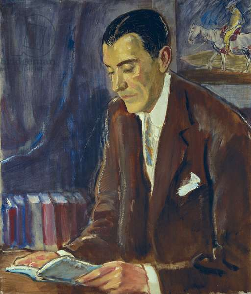 portrait of PEREZ DE AYALA, Ramon (1888-1962), spanish writer (oil on canvas)