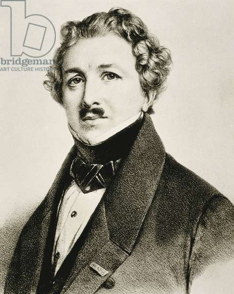 DAGUERRE, Louis-Jacques-Mande (1787-1851). English inventor that improved the photography. Litography.