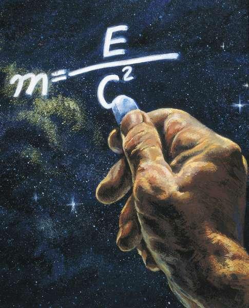 e = mc2 - EINSTEIN, Albert (1879-1955). German physicist and mathematician, Nobel Prize in 1921. German physicist and mathematician, Nobel Prize in 1921. Formula to calculate the energy, of Albert Einstein. Oil on canvas