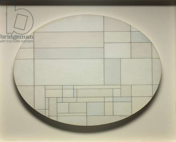White Oval, 1955 (oil on canvas)