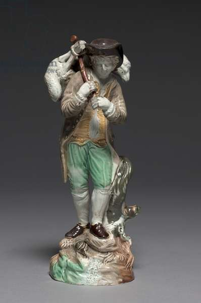 The Lost Sheep, made by Staffordshire Factory, c.1770 (lead glazed earthenware)