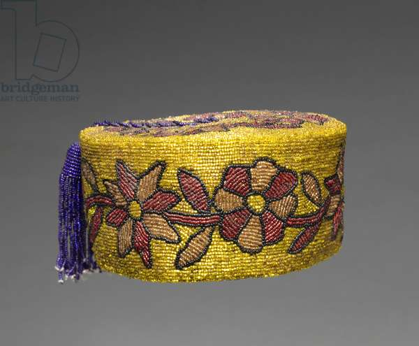 Coronet, 1900s (cloth, glass beads)