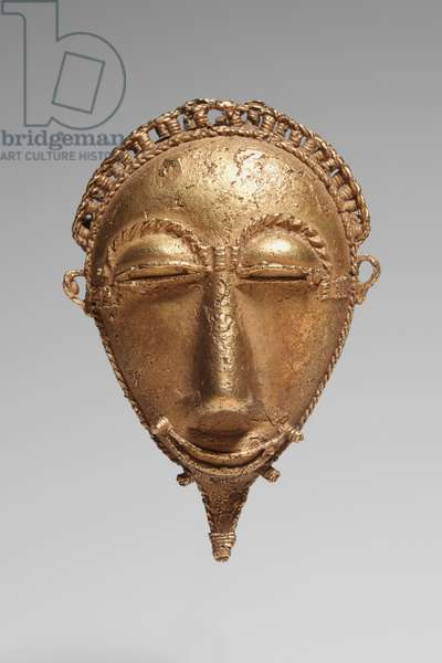 Face Pendant, 1900s (gold)
