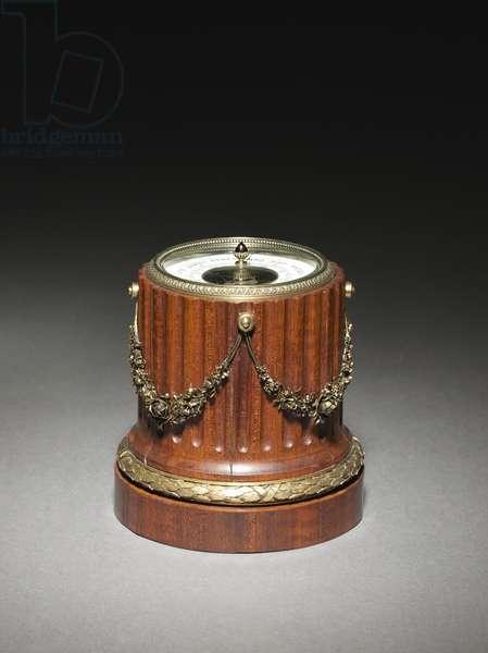 Barometer, firm of Peter Carl Fabergé (1846-1920), 1896-1903 (palisander, silver gilt, garnet)