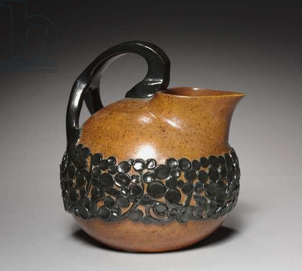 Pitcher, made by Reinhold Merkelbach, Grenzhausen, Germany, c.1900 (stoneware, salt-glaze)
