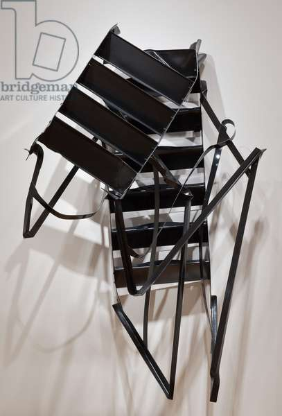 Stairs, 2010 (steel, paint)