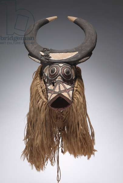 Bush Buffalo Mask, early-mid 1900s (wood, fibers)