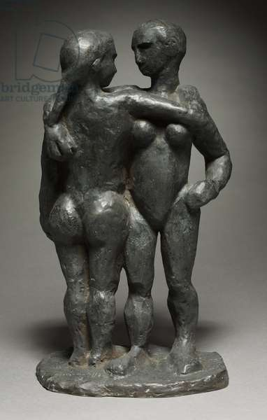 Two Women, c.1908 (bronze)