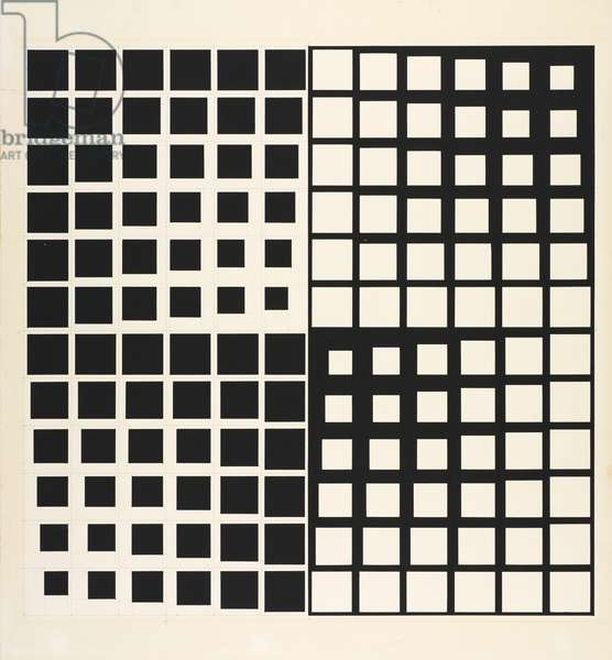 Untitled, c.1967-68 (black paint with graphite)